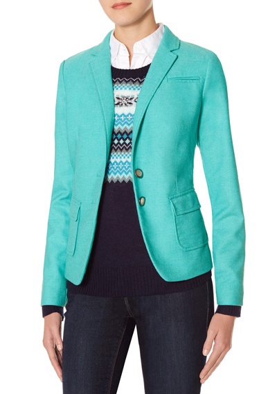 Colorful Flap Pocket Blazer