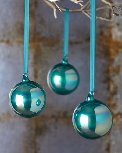 gulf blue christmas ornaments