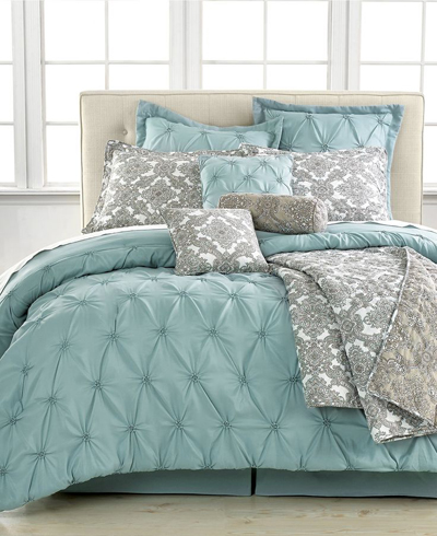 Awesome Jasmin Blue Piece Comforter Sets