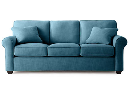 Roll-Arm Queen Sleeper Sofa
