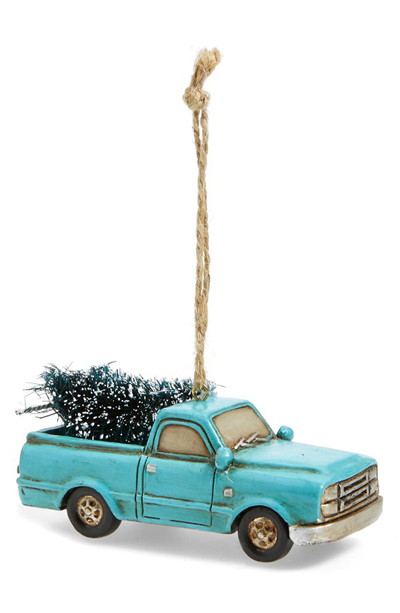 Turquoise Truck Ornament