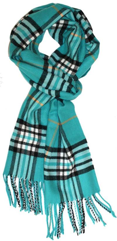 Cashmere Feel Winter Scarf in Rich Plaids