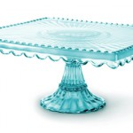 Loire Blue Glass Square Cake Stand