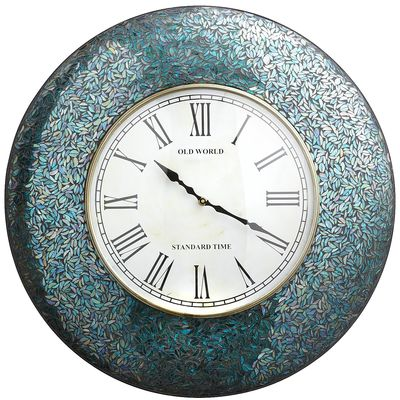 Peacock Mosaic Clock