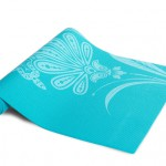 Yoga Mat with Floral Pattern