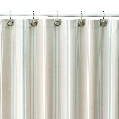 Tiburon Striped Shower Curtain Everything Turquoise