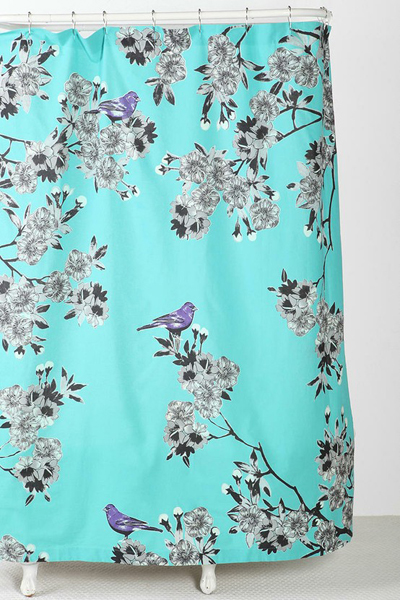 Plum Amp Bow Bird Blossom Shower Curtain Everything Turquoise