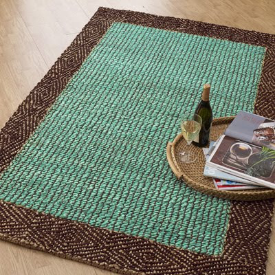 Braided Border Jute Rug Everything Turquoise