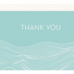 Pool Waves 4 bar Thank You Notes