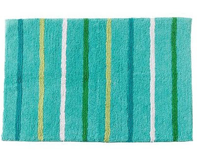 Froggy Fun Striped Bath Rug Everything Turquoise