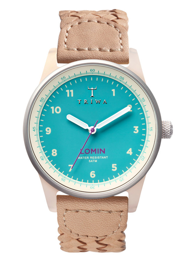Aqua Lomin Leather Strap Watch