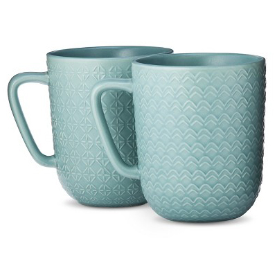 Blue Large Coffee Mug Set Of 4