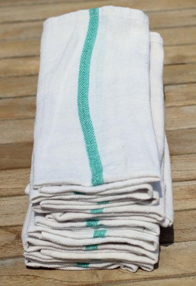 Cotton Herringbone Dish Towels