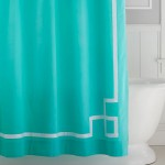 Emma Ribbon Trim Shower Curtain