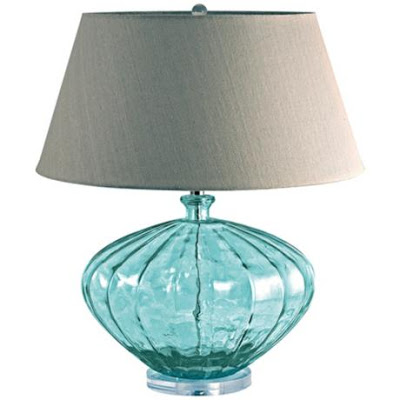 Blue Recycled Glass Melon Table Lamp Everything Turquoise