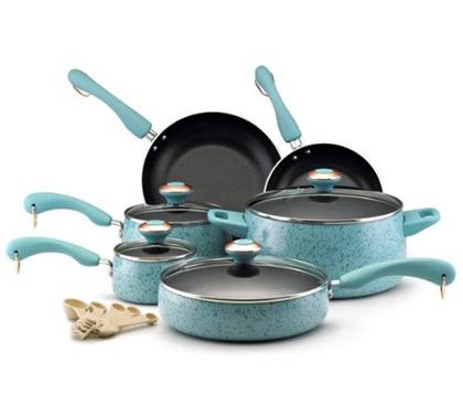 Nonstick 15-Piece Porcelain Cookware Set