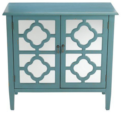 Sayre 2-Door Mirrored Cabinet   Everything Turquoise