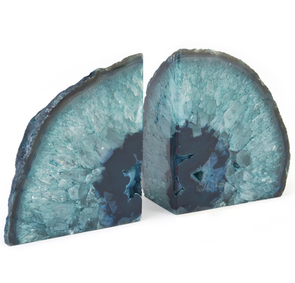 Teal Agate Bookends Everything Turquoise