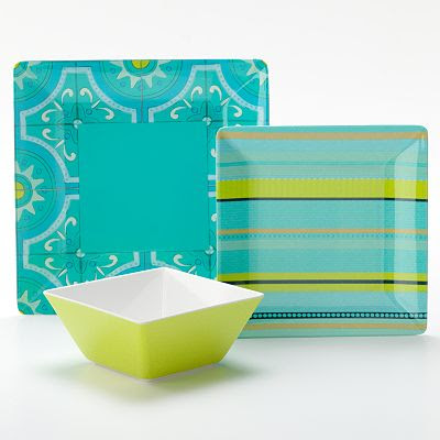 Bobby Flay Outdoor Turquoise Dinnerware Collection