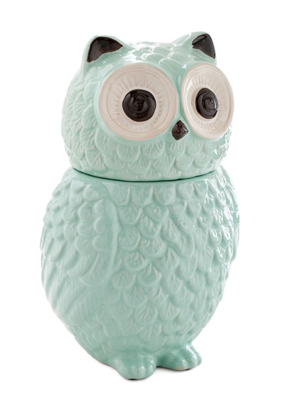 Ceramic Owl Cookie Jar Everything Turquoise