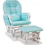 Chevron Hoop Custom Glider Chair & Ottoman Set