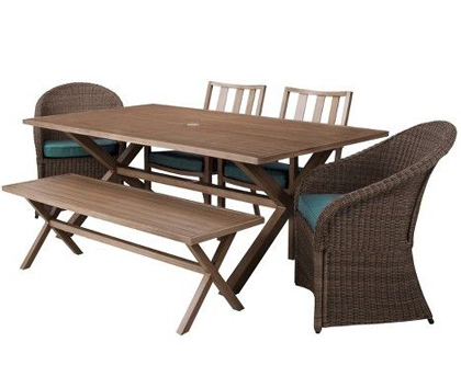 Holden 6 Piece Patio Dining Furniture Set Everything