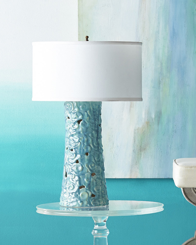 Aqua Ceramic Cumulus Lamp