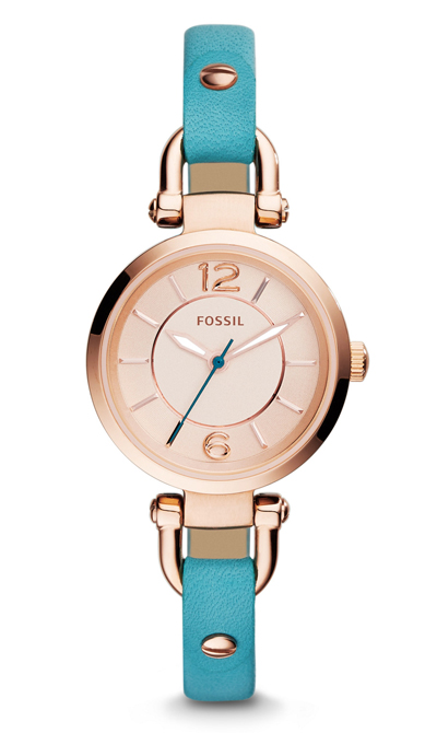 Fossil Georgia Three-Hand Leather Watch