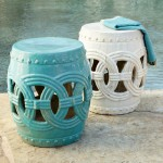 Cerulean Indian Rings Stool