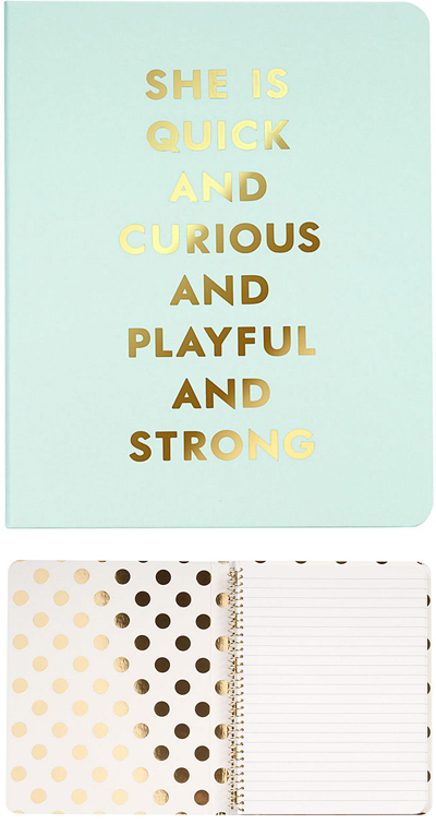 Kate Spade Quick Curious Playful Strong Notebook
