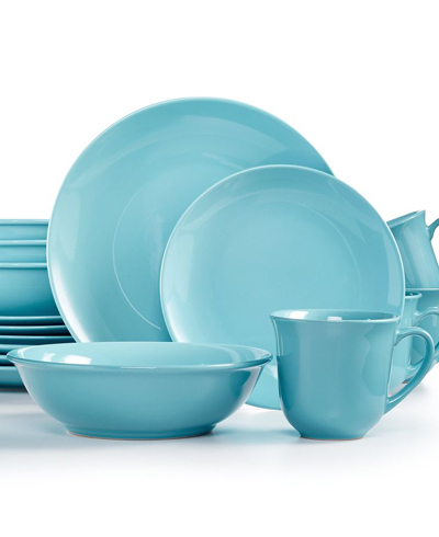 Martha Stewart Whim Collection Pool 16-Pc. Dinnerware Set  sc 1 st  Everything Turquoise & Martha Stewart Whim Collection Pool 16-Pc. Dinnerware Set ...