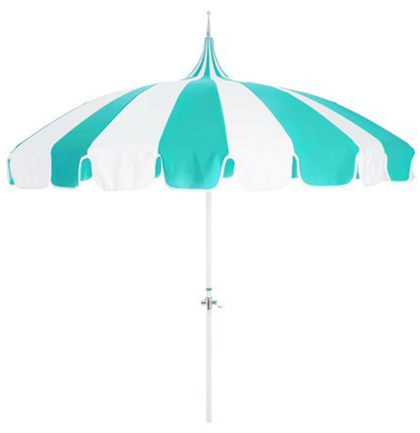 Aqua/White Pagoda Patio Umbrella