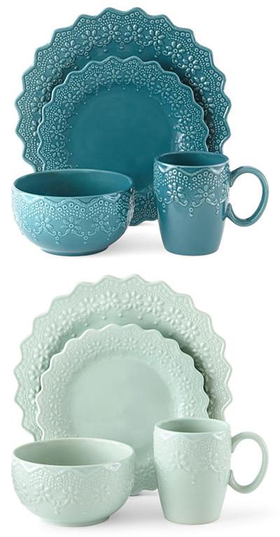 Chantilly Lace 16-pc. Dinnerware Set  sc 1 st  Everything Turquoise & Chantilly Lace 16-pc. Dinnerware Set | Everything Turquoise