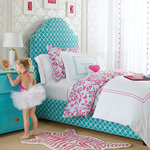 Charlotte Upholstered Bed & Headboard