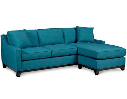 Keegan Fabric 2-Piece Sectional Sofa