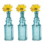 Turquoise Vintage Glass Bottles