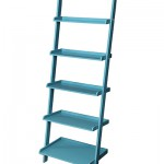 French Country Blue Bookshelf Ladder