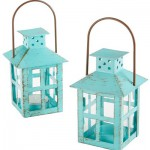 Vintage Blue Lantern – Set of 6