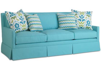"Turquoise Lilla 84"" Sofa"
