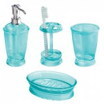 Aruba Blue Franklin 4-Piece Bath Accessories Set
