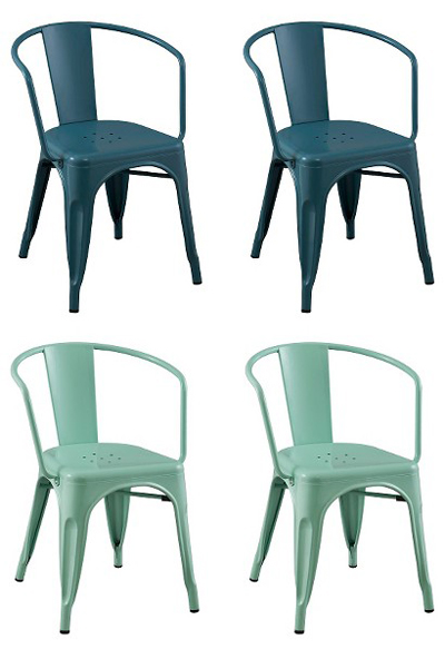 Carlisle Metal Dining Chair Set