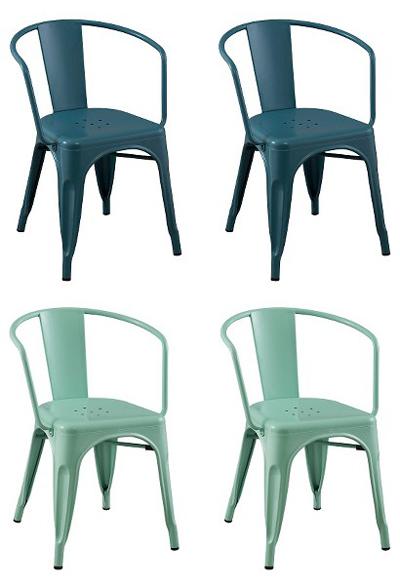 Carlisle Metal Dining Chair Set