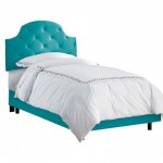 Juliette Turquoise Tufted Bed