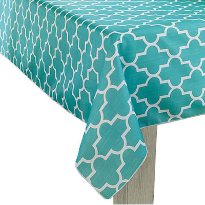 Exceptionnel Turquoise Trellis Tablecloth