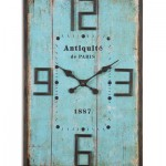 Antiquite Aged Blue Wall Clock