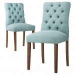 Aqua Blue Brookline Tufted Dining Chair