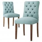 Aqua Blue Brookline Tufted Dining Chair
