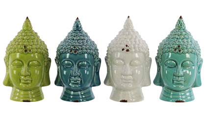Ceramic Buddha Head Set