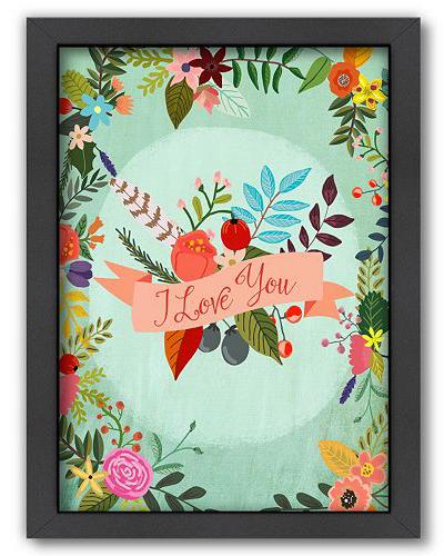 """I Love You"" Framed Wall Art"
