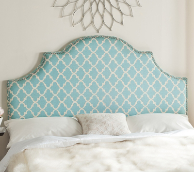 Safavieh Hallmar Blue & White Arched Headboard
